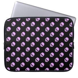 Cute Goth Pink Skulls Laptop Sleeve