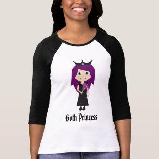 Cute Goth Princess Cartoon Character T-Shirt