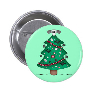 Cute gothic Christmas tree 2 Inch Round Button