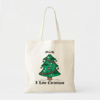 Cute gothic Christmas tree Tote Bag