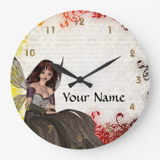 Cute Gothic fairy Wallclock