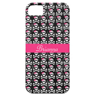 Cute Gothic Skull and Crossbones Girly Skulls iPhone 5 Covers