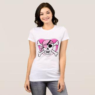 Cute Gothic Skull & Bones w/ heart eyepatch Tshirt