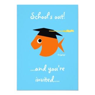 Cute Graduation Beach Party Turquoise Customizable Card
