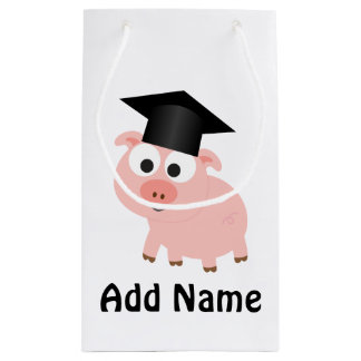 Cute Graduation Pig Small Gift Bag