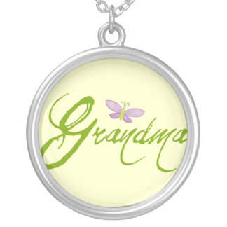 Cute Grandma Silver Plated Necklace