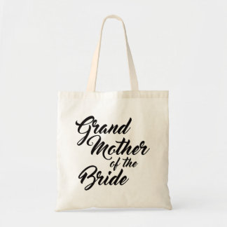 Cute Grandmother of the Bride favour tote bag