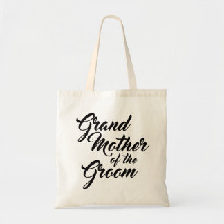 Cute Grandmother of the Groom favour tote bag