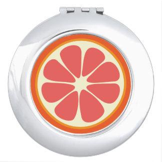 Cute Grapefruit Slice Citrus Fruit Funny Foodie Travel Mirror