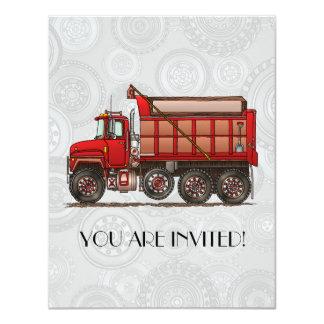 Cute Gravel Dump Truck Card