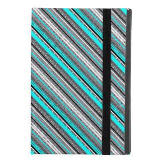 Cute gray aqua aztec patterns iPad mini 4 case