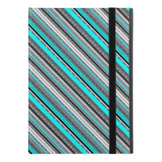 """Cute gray aqua aztec patterns iPad pro 9.7"""" case"""