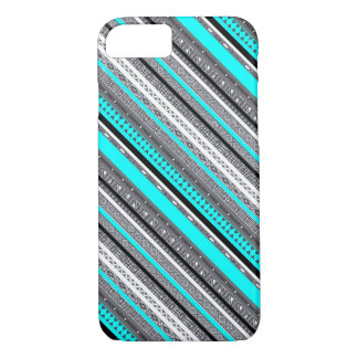Cute gray aqua aztec patterns iPhone 8/7 case