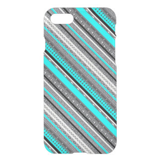 Cute gray aqua aztec patterns iPhone 8/7 case