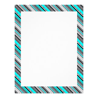 Cute gray aqua aztec patterns letterhead