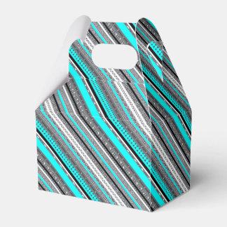 Cute gray aqua aztec patterns wedding favor box