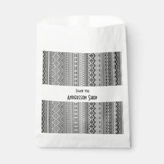 Cute gray aztec patterns design favour bag
