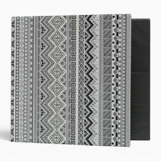 Cute gray aztec patterns design vinyl binder