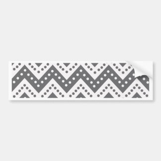 Cute Gray Polkadot Zigzags Bumper Sticker