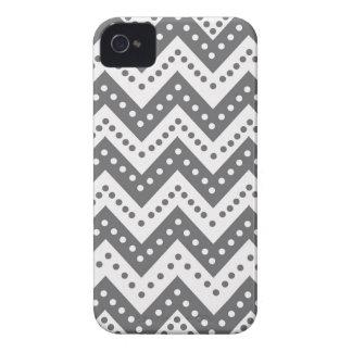 Cute Gray Polkadot Zigzags iPhone 4 Case
