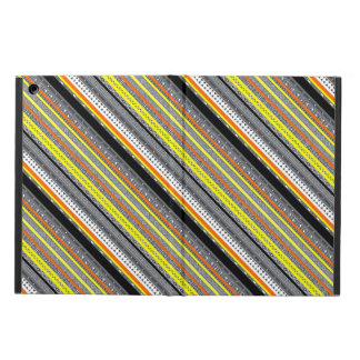 Cute gray yellow orange aztec patterns case for iPad air