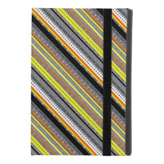 Cute gray yellow orange aztec patterns iPad mini 4 case