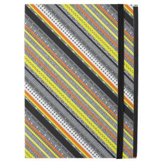 "Cute gray yellow orange aztec patterns iPad pro 12.9"" case"
