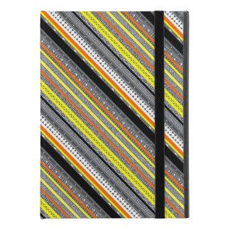 "Cute gray yellow orange aztec patterns iPad pro 9.7"" case"