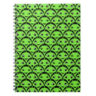 Cute Green Alien Notebook