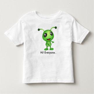 Cute green alien toddler t-shirt