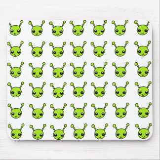 Cute Green Aliens Mouse Pad