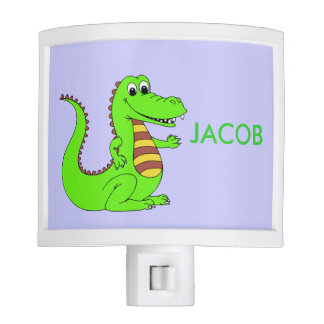 Cute green alligator night lite