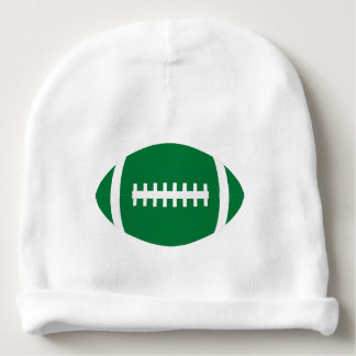 Cute Green and White Football Baby Game Day Beanie Baby Beanie