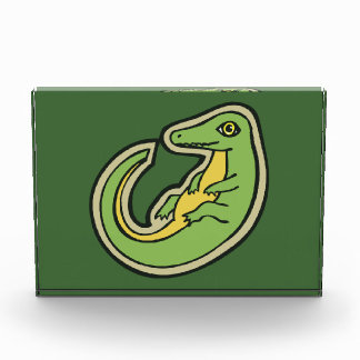 Cute Green And Yellow Alligator Drawing Design