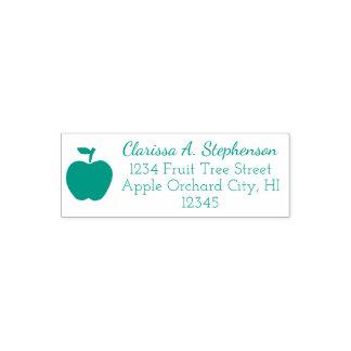 Cute Green Apple Fruit Return Address Stamp