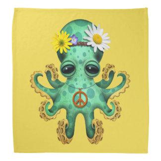 Cute Green Baby Octopus Hippie Bandana