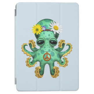 Cute Green Baby Octopus Hippie iPad Air Cover