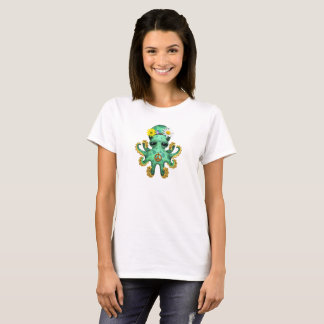 Cute Green Baby Octopus Hippie T-Shirt