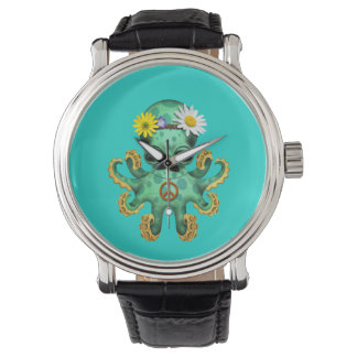 Cute Green Baby Octopus Hippie Watch