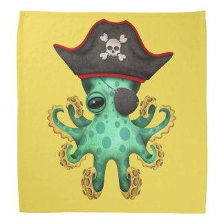 Cute Green Baby Octopus Pirate Bandana