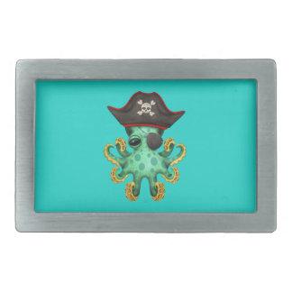Cute Green Baby Octopus Pirate Belt Buckles