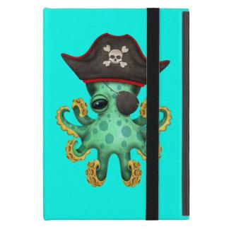 Cute Green Baby Octopus Pirate iPad Mini Cover