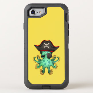 Cute Green Baby Octopus Pirate OtterBox Defender iPhone 8/7 Case