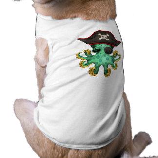Cute Green Baby Octopus Pirate Shirt
