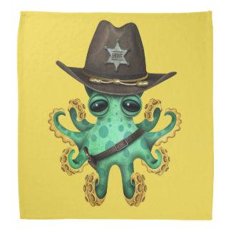 Cute Green Baby Octopus Sheriff Bandana