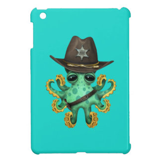 Cute Green Baby Octopus Sheriff Cover For The iPad Mini