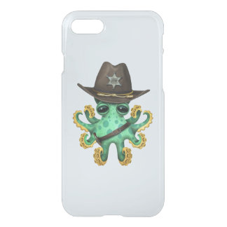 Cute Green Baby Octopus Sheriff iPhone 8/7 Case