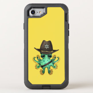 Cute Green Baby Octopus Sheriff OtterBox Defender iPhone 8/7 Case
