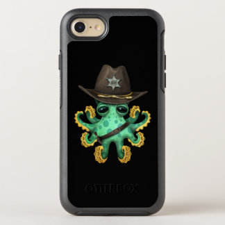 Cute Green Baby Octopus Sheriff OtterBox Symmetry iPhone 8/7 Case