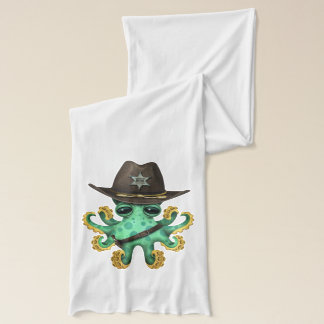 Cute Green Baby Octopus Sheriff Scarf